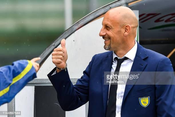 Domenico Di Carlo coach of Chievo Verona before the Serie A match between Chievo Verona and Sampdoria at Stadio Marc'Antonio Bentegodi on May 19 2019...