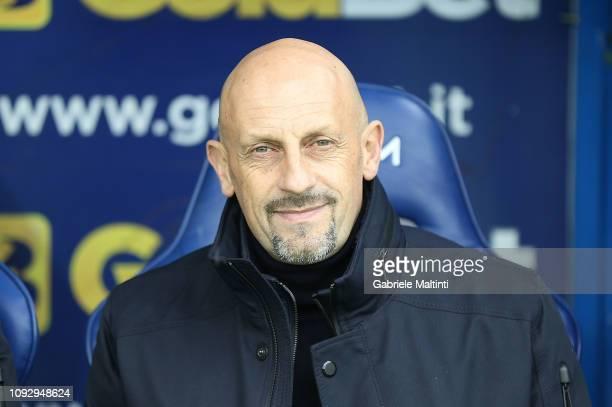 Domenico Di Carlo head coach of AC Chievo Verona looks on during the Serie A match between Empoli and Chievo at Stadio Carlo Castellani on February 2...