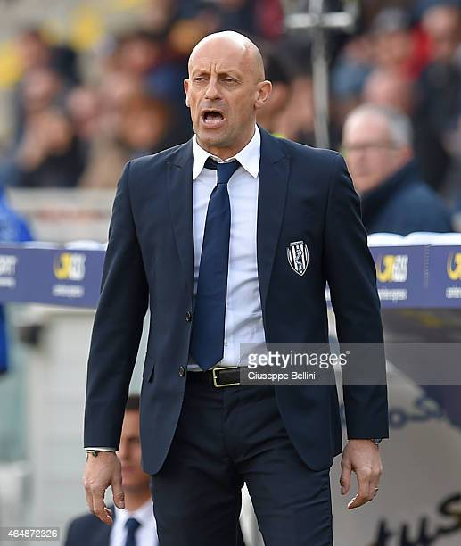 Domenico Di Carlo head coach of Cesena during the Serie A match between AC Cesena and Udinese Calcio at Dino Manuzzi Stadium on March 1 2015 in...