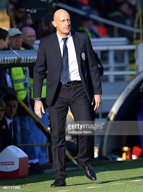Domenico Di Carlo head coach of Cesena during the Serie A match between Parma FC and AC Cesena at Stadio Ennio Tardini on January 25 2015 in Parma...