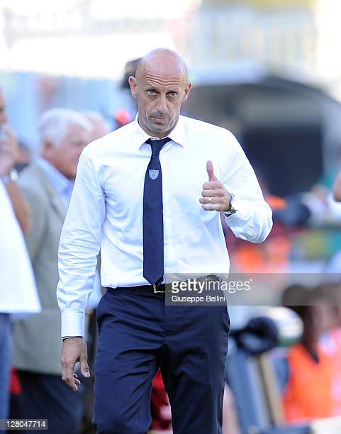 Domenico Di Carlo head coach of Chievo during the Serie A match between AC Cesena and AC Chievo Verona at Dino Manuzzi Stadium on October 2 2011 in...