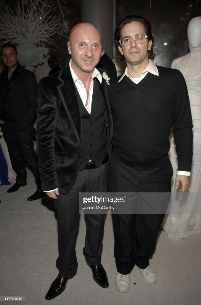 Domenico Dolce and Marc Jacobs during CFDA 7th on Sale Kick-Off - Red Carpet and Inside at Sky Light Studios in New York City, New York, United States.