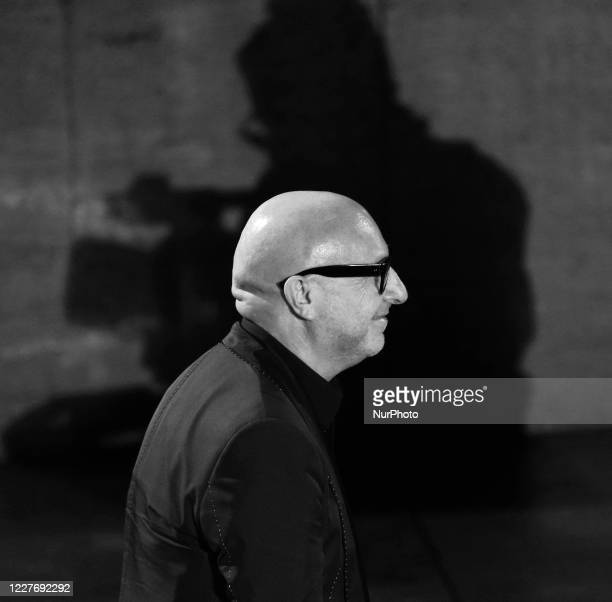 Domenico Dolce attends the ceremony in memory of Ennio Morricone in the suggestive ancient theater of Taormina with the presentation of the film by...