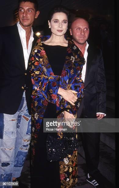 Domenico Dolce, Isabel Rosellini & Stefano Gabanna - Metropolitan Museum Gala, New York - early '90s