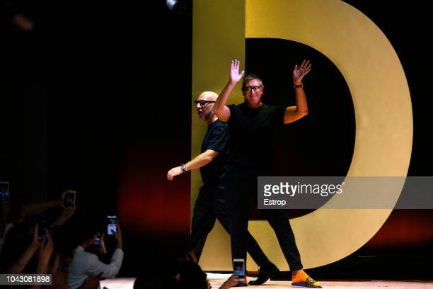 Domenico Dolce Stefano Gabbana at the Dolce Gabbana show during Milan Fashion Week Spring/Summer 2019 on September 23 2018 in Milan Italy