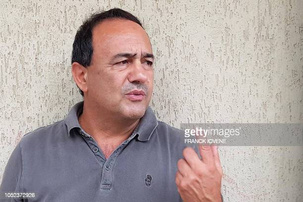 Domenico Lucano the mayor of the Calabrian town of Riace speaks to AFP on October 17 2018 in Caulonia southern Italy Lucano who was under house...