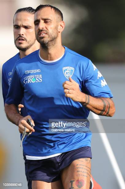 Domenico Maietta of Empoli FC in action during training session on September 18 2018 in Empoli Italy