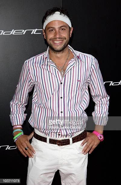 Domenico Nesci attends A Casa Di Lapo cocktail party as part of Milan Fashion Week Menswear S/S 2011 on June 18 2010 in Milan Italy
