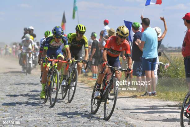 Domenico Pozzovivo of Italy and Bahrain Merida Pro Team / during the 105th Tour de France 2018 Stage 9 a 1565 stage from Arras Citadelle to Roubaix...
