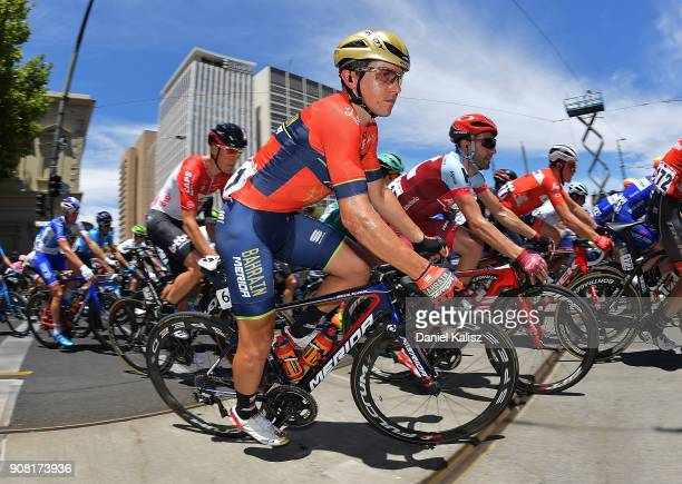 Domenico Pozzovivo of Italy and BahrainMehrida competes during stage six of the 2018 Tour Down Under on January 21 2018 in Adelaide Australia