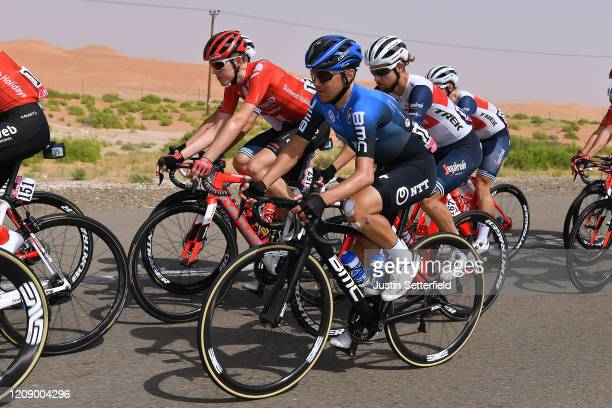 Domenico Pozzovivo of Italy and NTT Pro Cycling Team / Florian Stork of Germany and Team Sunweb / Peloton / during the 6th UAE Tour 2020 Stage 5 a...