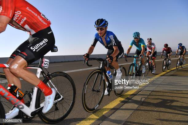 Domenico Pozzovivo of Italy and NTT Pro Cycling Team / Gorka Izagirre Insausti of Spain and Astana Pro Team / during the 6th UAE Tour 2020 Stage 3 a...