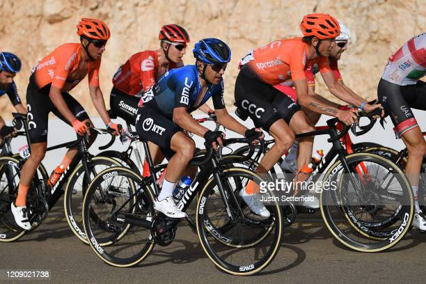 Domenico Pozzovivo of Italy and NTT Pro Cycling Team / Ilnur Zakarin of Russia and CCC Team / Peloton / during the 6th UAE Tour 2020 Stage 5 a 162km...