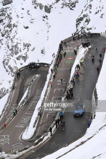 Domenico Pozzovivo of Italy and NTT Pro Cycling Team / Matteo Sobrero of Italy and NTT Pro Cycling Team / Passo dello Stelvio - Stilfserjoch / Snow /...