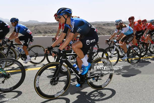 Domenico Pozzovivo of Italy and NTT Pro Cycling Team / Michael Carbel of Denmark and NTT Pro Cycling Team / Andrea Vendrame of Italy and Team Ag2R La...