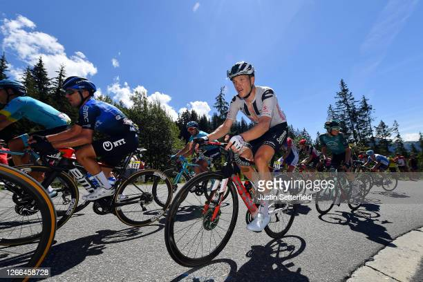 Domenico Pozzovivo of Italy and NTT Pro Cycling Team / Nikias Arndt of Germany and Team Sunweb / during the 72nd Criterium du Dauphine 2020, Stage 4...