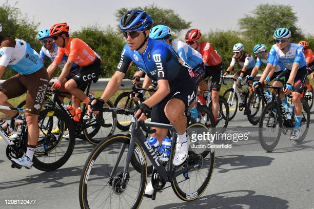 Domenico Pozzovivo of Italy and NTT Pro Cycling Team / Peloton / during the 6th UAE Tour 2020 Stage 1 a 148km stage from Dubai The Pointe to Dubai...