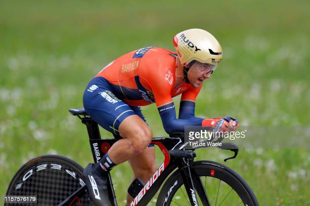 Domenico Pozzovivo of Italy and Team Bahrain Merida / during the 83rd Tour of Switzerland Stage 8 a 192km Individual Time Trial stage from...