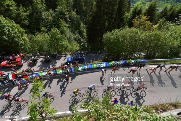 Domenico Pozzovivo of Italy and Team Bahrain - Merida / Vincenzo Nibali of Italy and Team Bahrain - Merida / Richard Carapaz of Ecuador and Movistar...