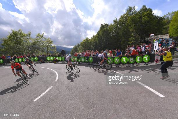 Domenico Pozzovivo of Italy and Team BahrainMerida / Tom Dumoulin of The Netherlands and Team Sunweb / Christopher Froome of Great Britain and Team...