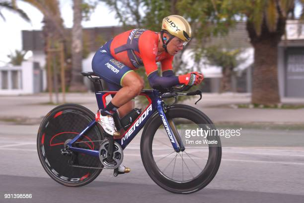 Domenico Pozzovivo of Italy during the 53rd TirrenoAdriatico 2018 Stage 7 a 105km Individual Time Trial stage in San Benedetto Del Tronto on March 13...