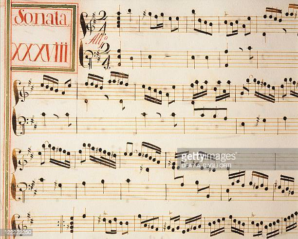 Domenico Scarlatti Collection of sonatas for harpsichord manuscript Sonata no 38 score