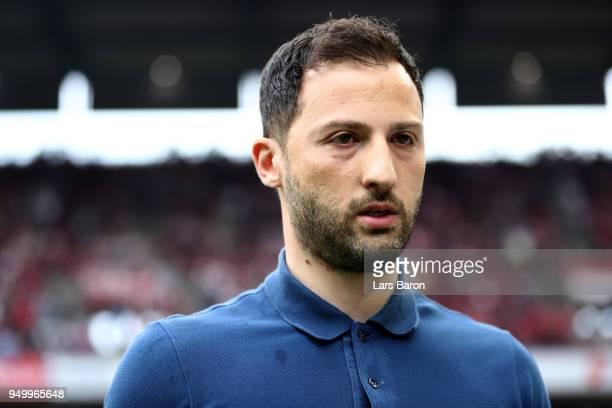 Domenico tedesco head coach of Schalke looks on before the Bundesliga match between 1 FC Koeln and FC Schalke 04 at RheinEnergieStadion on April 22...