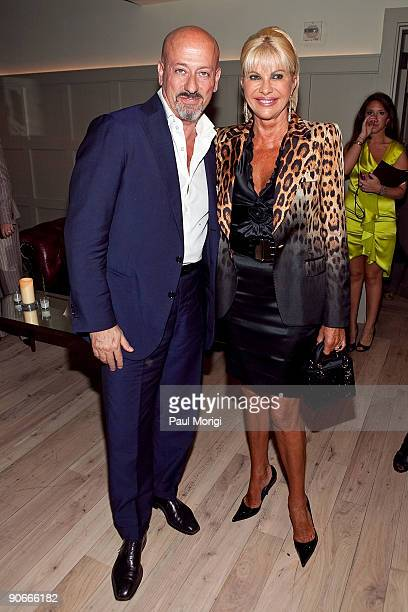 Domenico Vacca and Ivana Trump at Domenico Vacca Spring 2010 during MercedesBenz Fashion Week at the Soho House on September 12 2009 in New York City