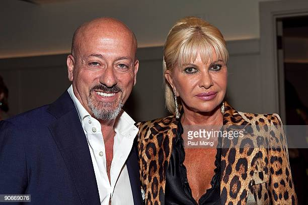Domenico Vacca and Ivana Trump at Domenico Vacca Spring 2010 during Mercedes-Benz Fashion Week at the Soho House on September 12, 2009 in New York...