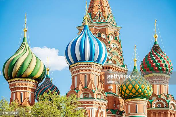Domes of St.Basil Cathedral Moscow Russia