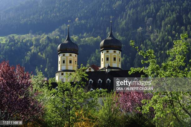 Domes of the Cistercian Abbey of Stams, Tyrol, Austria, 13th-18th century.