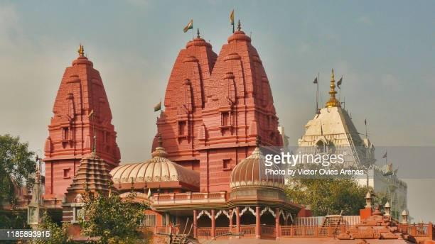 domes of the digambara jain temple in old delhi, india - digambara stock-fotos und bilder