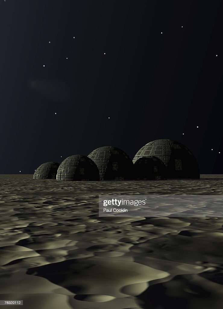 Domes On Barren Planet Stock Photo Getty Images