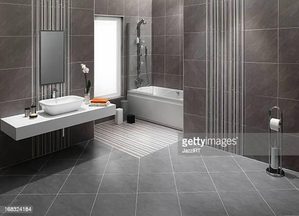 domestic bathrooms - flooring stock photos and pictures