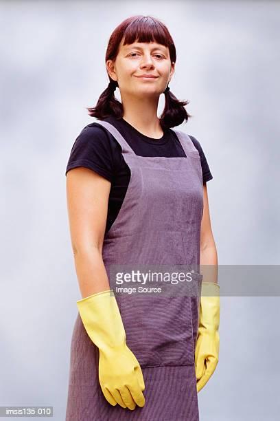 domestic cleaner - reinigungskraft stock-fotos und bilder