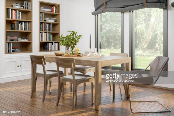 domestic dining room - dining room stock pictures, royalty-free photos & images