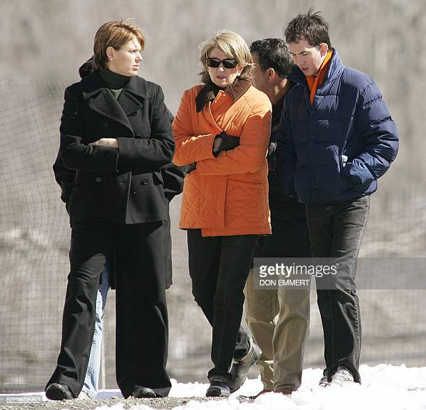 Domestic diva Martha Stewart walks with daughter Alexis and others on her property 05 March 2005 in Bedford New York Stewart left prison 04 March at...