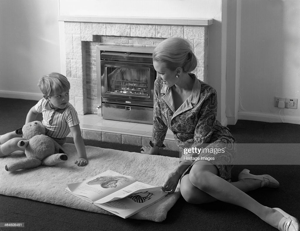 Domestic fire place advertisment for the NCB, 1967. Artist: Michael Walters : News Photo