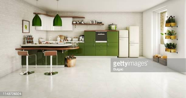domestic kitchen interior - cozinha doméstica imagens e fotografias de stock