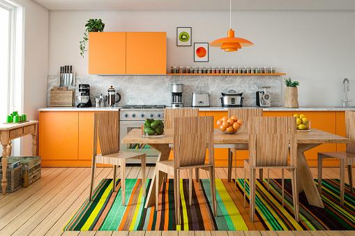 Domestic Kitchen Interior - gettyimageskorea