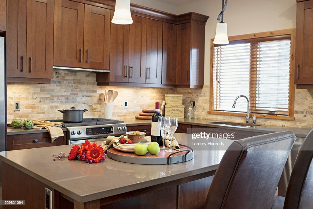 Domestic kitchen : Foto de stock
