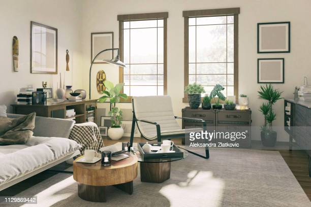 domestic living room - rustic stock pictures, royalty-free photos & images