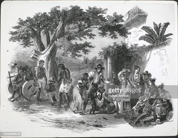 Domestic punishment of slaves on a Brazilian sugar farm Brazil From the Illustrated London News 29th March 1845