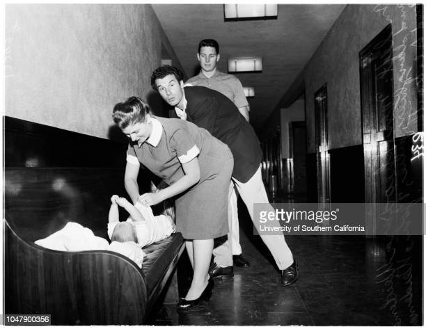 Domestic Relations Court with Judge Doyle, 8 February 1958. Esther Ickowics -- 9 years;Icek Ickowics Jeanette Ickowics -- 5 years;Mrs Theodora...