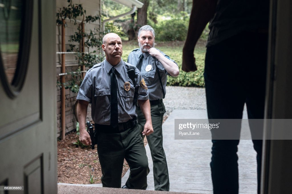 Domestic Violence and Police Responders : Stock Photo