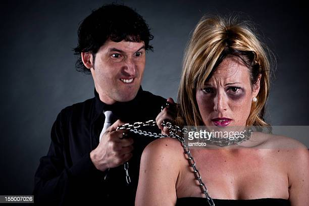 Domestic violence concept.