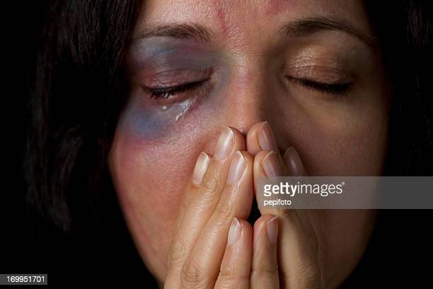 domestic violence victim - violence against women stock photos and pictures