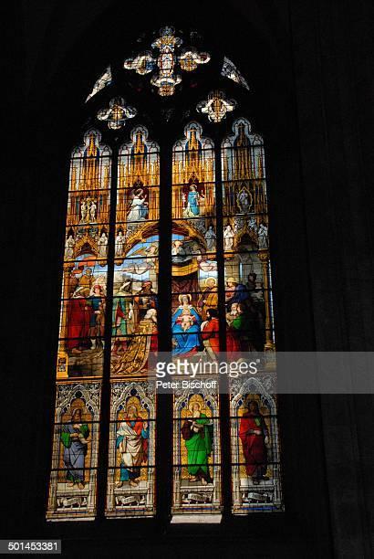 Domfenster Kölner Dom Köln NordrheinWestfalen Deutschland Europa innen Fenster Reise BB DIG PNr 1026/2011