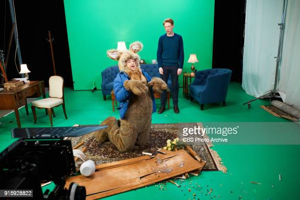 Domhall Gleeson performs in a Peter Rabbit sketch with James Corden during 'The Late Late Show with James Corden' Monday February 5 2018 On The CBS...