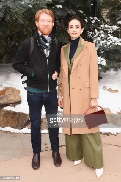 Domhnall Gleeson and Emmy Rossum are seen during 2018 Sundance Film Festival in Park City on January 22 2018 in Park City Utah